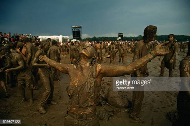 Fans at 25th Anniversary Celebration of Woodstock