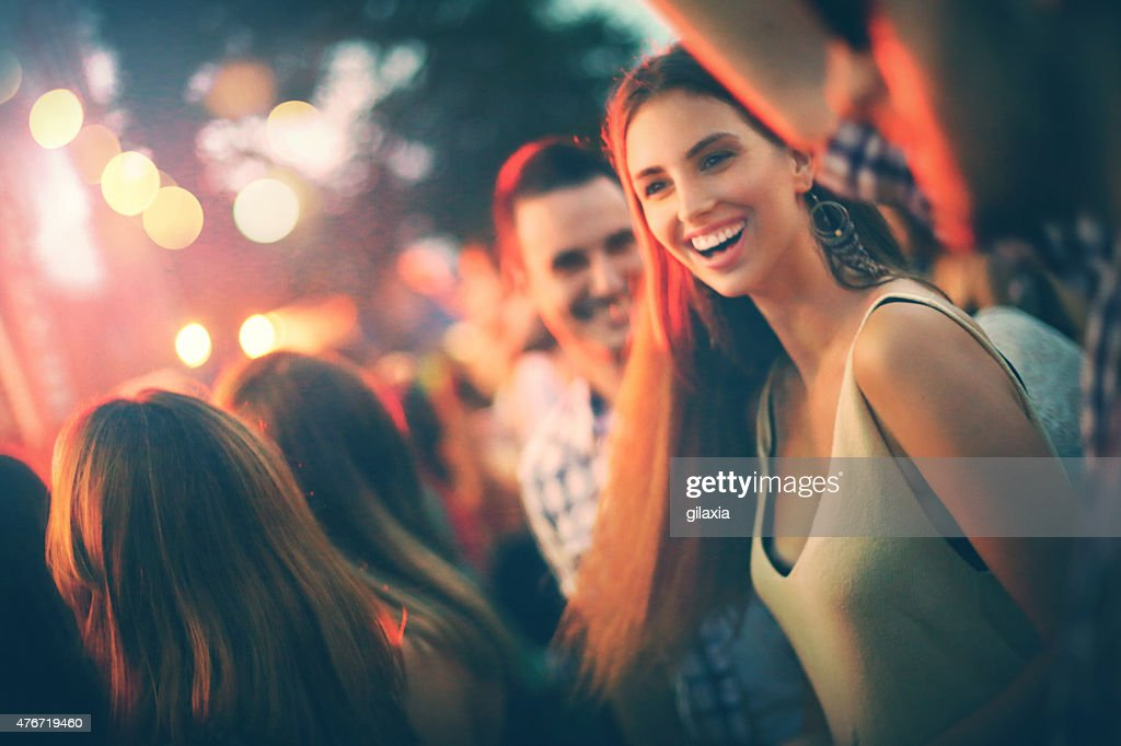 Fans at concert. : Stock Photo