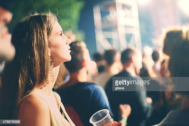 Fans at concert.