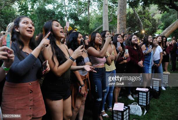 Fans at Shawn Mendes' special event in a private garden in Beverly Hills to celebrate his self titled album Shawn Mendes