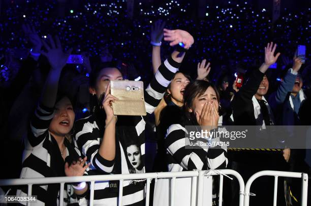 Fans at Taylor Swift reputation Stadium Tour in Japan presented by Fujifilm instax at Tokyo Dome on November 21 2018 in Tokyo Japan
