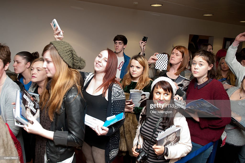 James arthur book signing photos and images getty images fans at the front of the line wait meet james arthur winner of x factor m4hsunfo