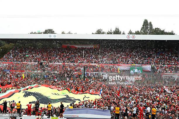Fans at the podium celebrations during the Formula One Grand Prix of Italy at Autodromo di Monza on September 4 2016 in Monza Italy