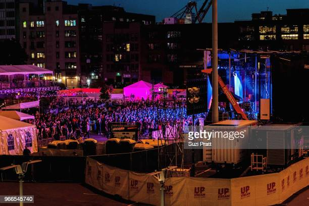 Fans at the Upstream Music Festival at Pioneer Square on June 2 2018 in Seattle Washington