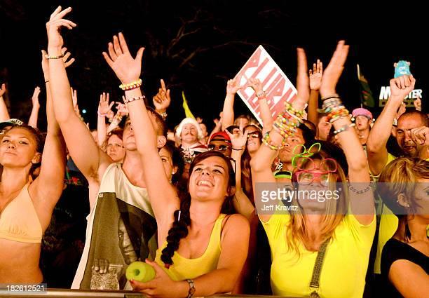 Fans at TomorrowWorld Electronic Music Festival on September 29 2013 in Fairburn Georgia