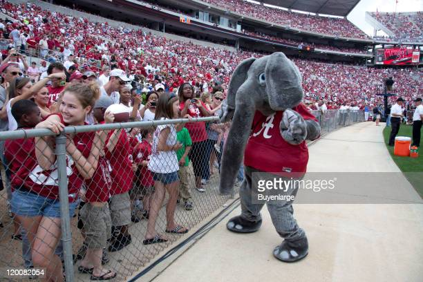 Fans attend ADay the annual University of Alabama spring football practice scrimmage game Tuscaloosa Alabama 2010