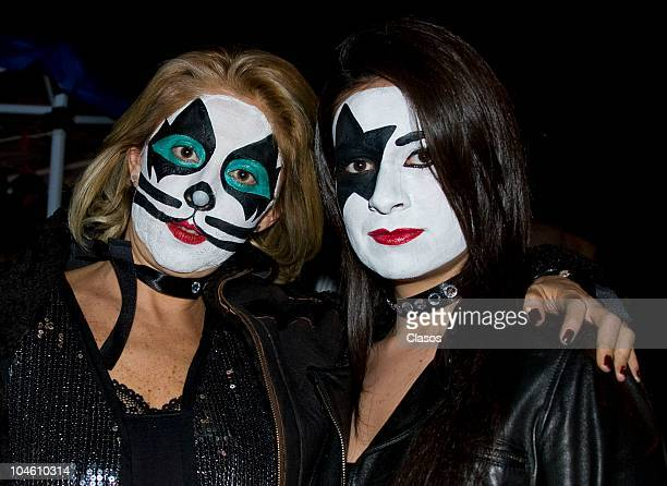 Fans attend at Palacio de los Deportes for the Kiss concert as part of their tour Hottest Show on Earth on September 30 2010 in Mexico City Mexico