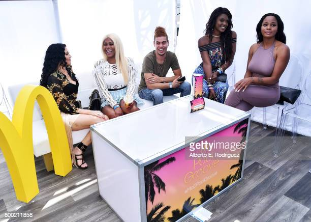 Fans attend day one of the Pool Groove sponsored by McDonald's during the 2017 BET Experience at Gilbert Lindsey Plaza on June 23 2017 in Los Angeles...