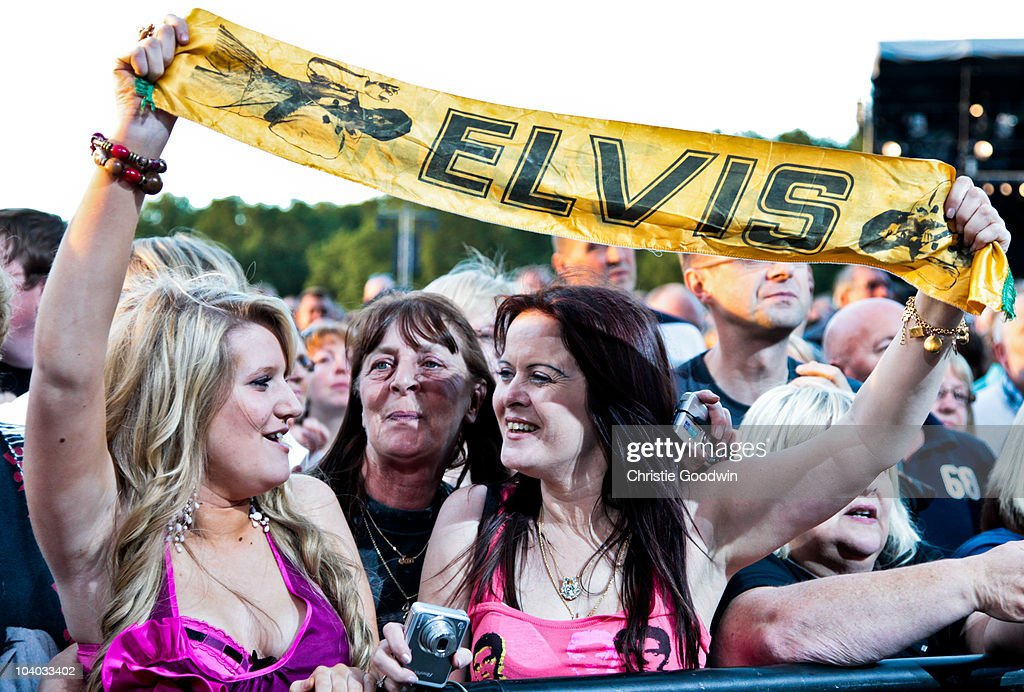 Fans attend Elvis Forever in Hyde Park, celebrating Elvis Presley who would have turned 75 this year, on September 12, 2010 in London, England.