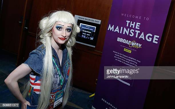 Fans attend in costume the BroadwayCon 2016 at the Hilton Midtown on January 24 2016 in New York City