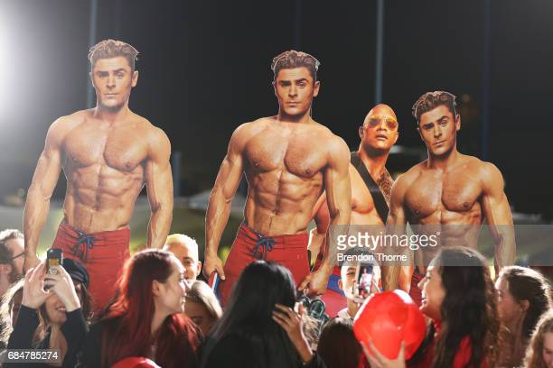 Fans attend the Australian premiere of 'Baywatch' at Hoyts EQ on May 18 2017 in Sydney Australia