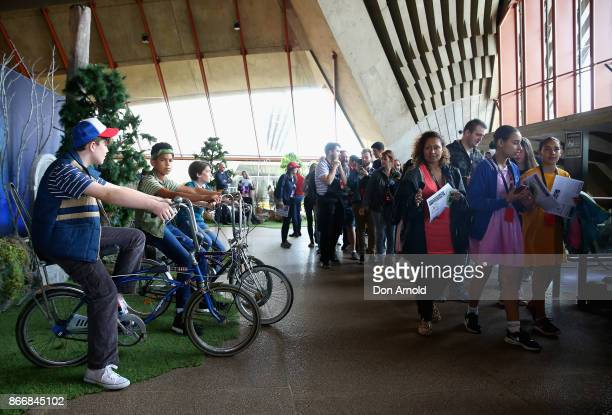 Fans attend the Australian premiere of Stranger Things Season 2 at Sydney Opera House on October 27 2017 in Sydney Australia