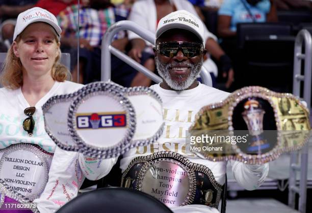 Fans attend the BIG3 Championship at Staples Center on September 01, 2019 in Los Angeles, California.