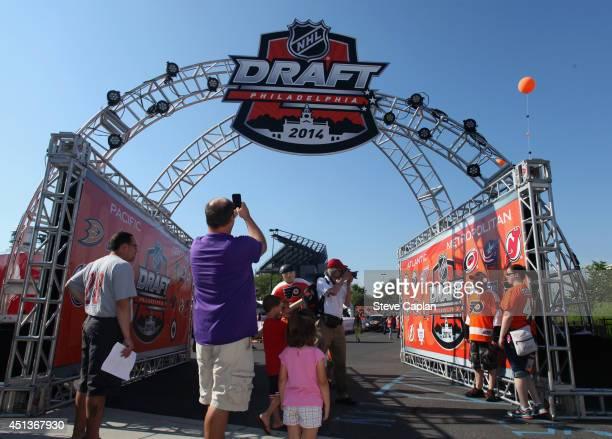 Fans attend the Fan Fest as part of the 2014 NHL Entry Draft at the Wells Fargo Center on June 27 2014 in Philadelphia Pennsylvania
