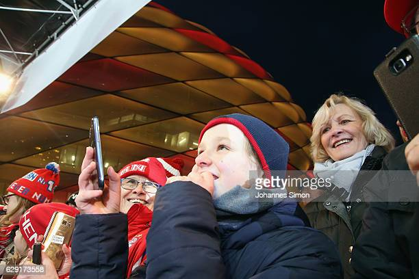 Fans attend the FC Bayern Muenchen Christmas Market at Allianz Arena on December 11, 2016 in Munich, Germany.
