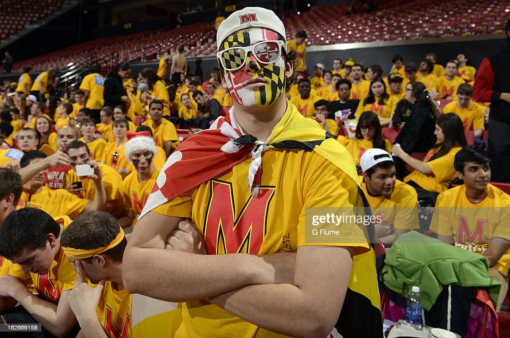 Fans attend the game between the Maryland Terrapins and the Duke Blue Devils at the Comcast Center on February 16, 2013 in College Park, Maryland.