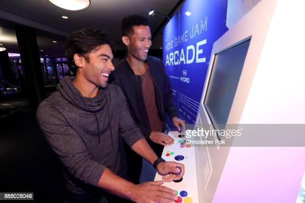 Fans attend the 'Indie Game Jam Arcade Presented by Schick Hydro' at The Game Awards 2017 at Microsoft Theater on December 7 2017 in Los Angeles...