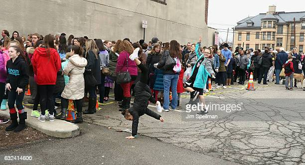 """Fans attend the Laurie Hernandez book signing for """"I Got This"""" at Bookends Bookstore on January 22, 2017 in Ridgewood, New Jersey."""
