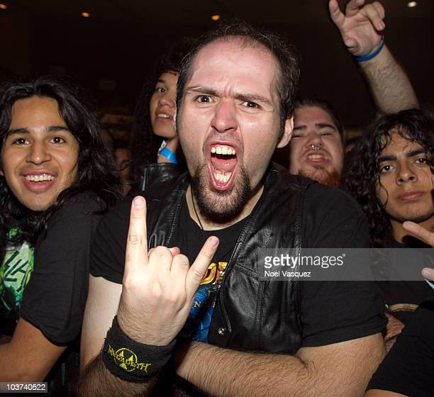 Fans attend the Megadeth Slayer and Testamentat concert at The Long Beach Convention Center on August 30 2010 in Long Beach California