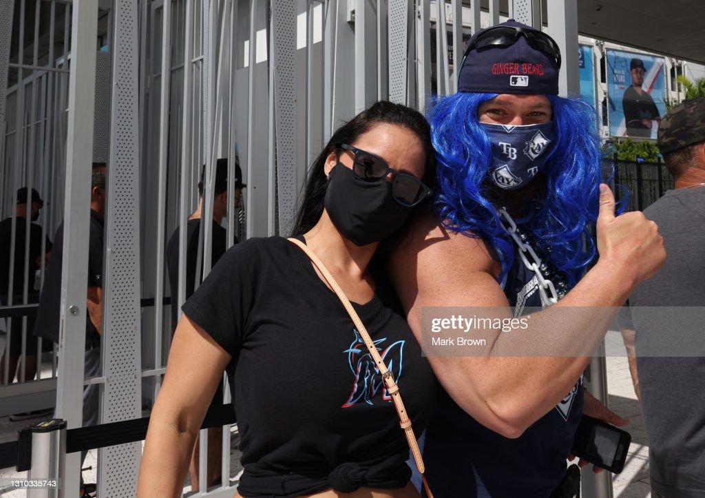 Tampa Bay Rays v Miami Marlins : Foto di attualità