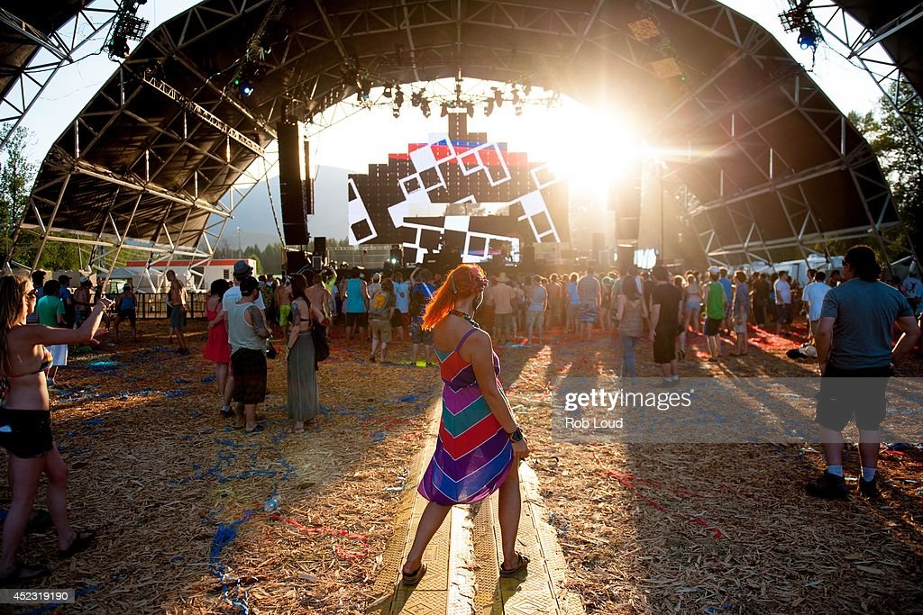 Fans attend the Pemberton Music Festival on July 17, 2014 in Pemberton, Canada.