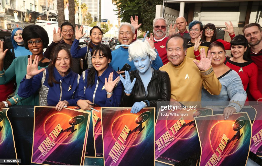 Fans attend the premiere of CBS's 'Star Trek: Discovery' at The Cinerama Dome on September 19, 2017 in Los Angeles, California.