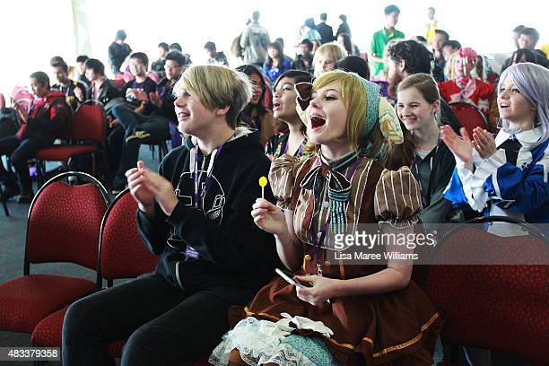 Fans attend The SMASH Sydney Manga and Anime Show at Rosehill Gardens on August 8 2015 in Sydney Australia