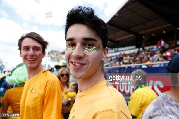 Fans attend the women's international match between the Australian Matildas and Brazil at Pepper Stadium on September 16, 2017 in Sydney, Australia.