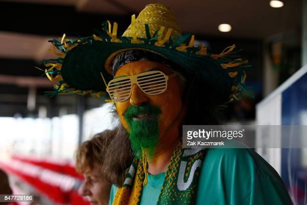 Fans attend the women's international match between the Australian Matildas and Brazil at Pepper Stadium on September 16 2017 in Sydney Australia
