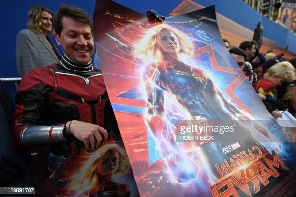 Fans attend the world premiere of Captain Marvel in Hollywood California on March 4 2019
