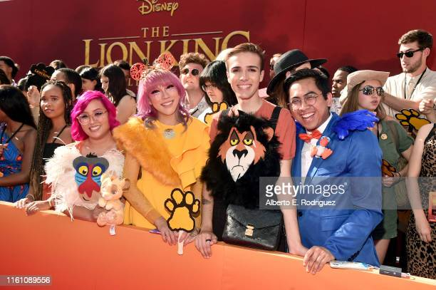 """Fans attend the World Premiere of Disney's """"THE LION KING"""" at the Dolby Theatre on July 09, 2019 in Hollywood, California."""