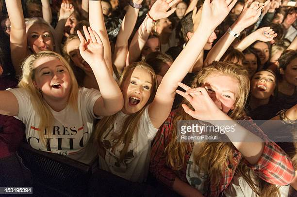 Fans attend Twin Atlantic's concert at The Liquid Room on August 11, 2014 in Edinburgh, United Kingdom.