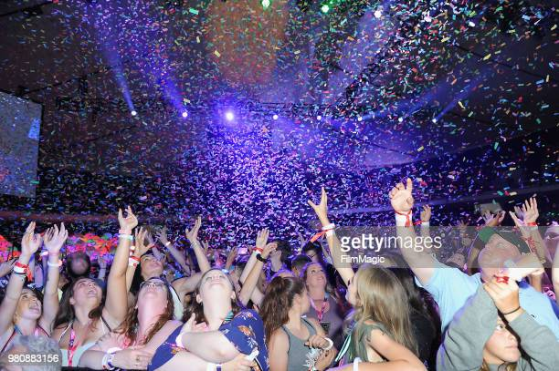 Fans attend YouTube OnStage during VidCon at the Anaheim Convention Center Arena on June 21 2018 in Anaheim California