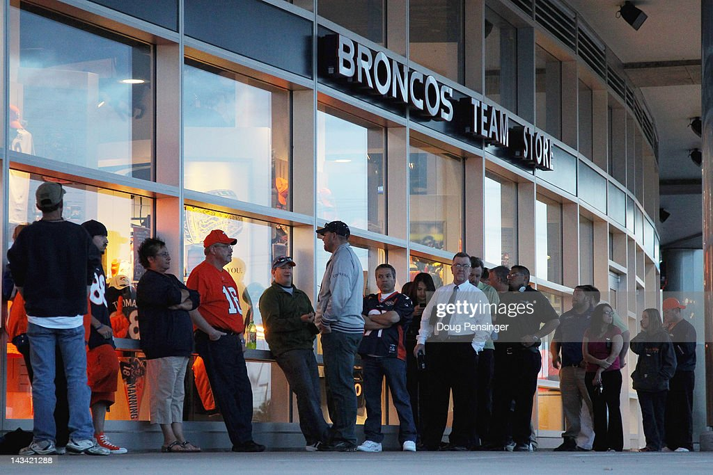00 AM opening of the Denver Broncos Team Store at Sports Authority