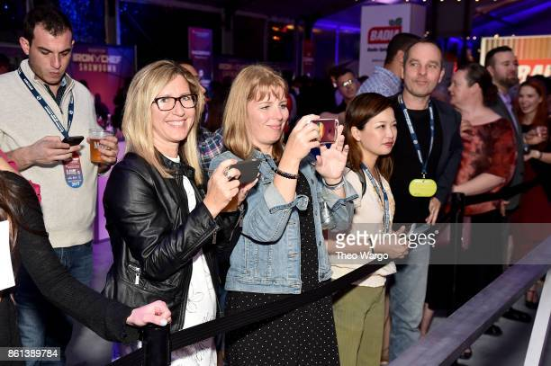 Fans await the arrival of their favorite chef at the Food Network Cooking Channel New York City Wine Food Festival presented by CocaCola Rooftop Iron...