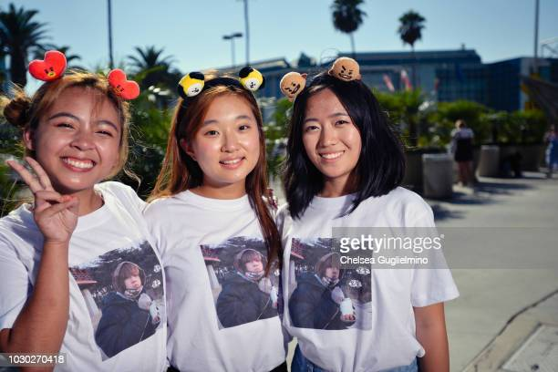Fans await the BTS concert as part of the Love Yourself North American Tour at Staples Center on September 9 2018 in Los Angeles California