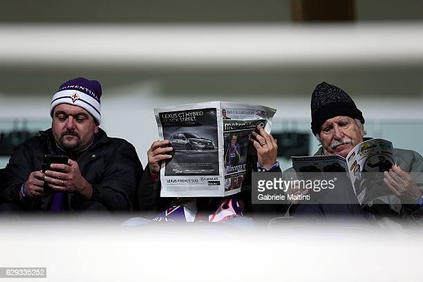 Fans await the start of the match during the Serie A match between ACF Fiorentina and US Sassuolo at Stadio Artemio Franchi on December 12 2016 in...