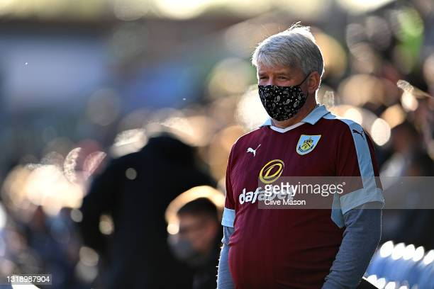 Fans back in attendance prior to the Premier League match between Burnley and Liverpool at Turf Moor on May 19, 2021 in Burnley, England.