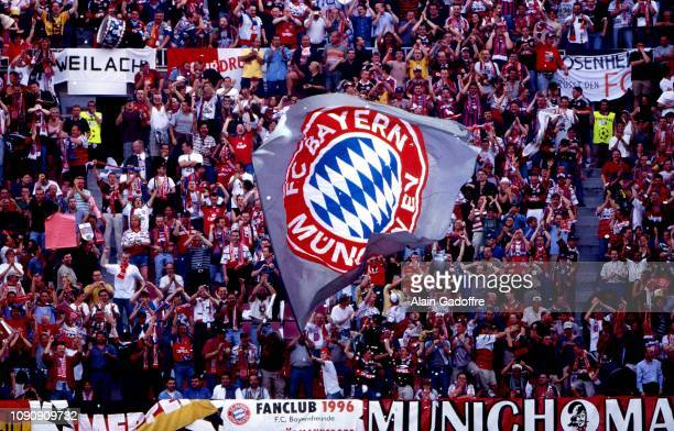 Fans Bayern Munich during the UEFA Champions league final match between Manchester United and Bayern Munich on May 26 1999 in Camp Nou Barcelona Spain