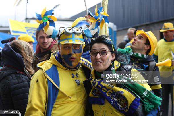 Fans before the game during the European Rugby Champions Cup Final match between Clermont Auvergne and Saracens at Murrayfield Stadium on May 13 2017...