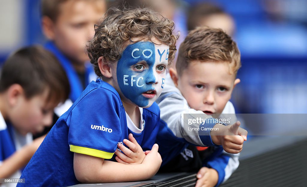 Fans before the Premier League match between Everton and Stoke City at Goodison Park on August 27, 2016 in Liverpool, England.