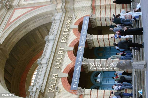 Fans begin queuing ealry at The Fellowship Festival 2004 aimed at J R R Tolkien fans at Alexandra Palace on August 28 2004 in London The Lord of the...