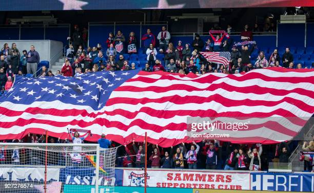 USWNT fans behind the goal before a She Believes Cup match between the USWNT and France on March 04 at Red Bull Arena in Harrison NJ The game ended...