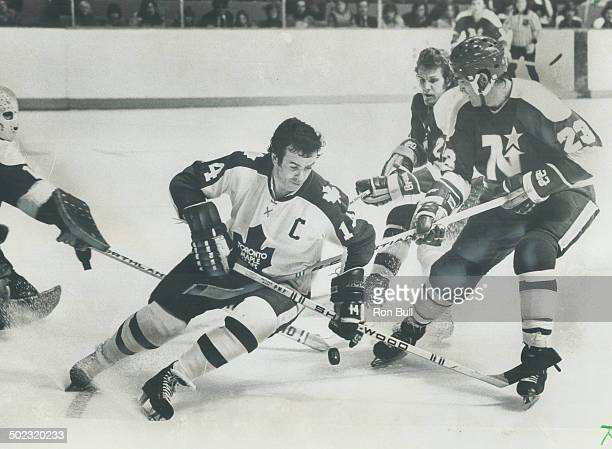 Fans below praise Leaf captain Dave Keon seen here in game earlier this year with Minnesota North Stars