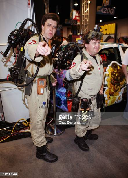 Fans Brian Fair and Eric Esky attend the second day of ComicCon to on July 21 2006 in San Diego California