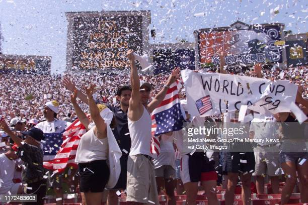 S WORLD CUP FINAL Fans celebrate after US beats China in shoot out in WWC final 7/10/99