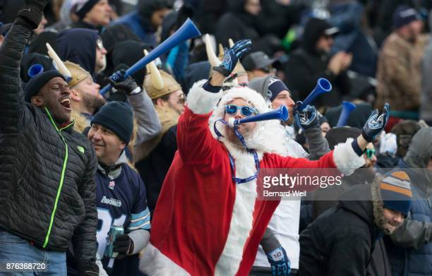 TORONTO ON NOVEMBER 19 Fans celebrate as the Toronto Argonauts beat the Saskatchewan Roughriders 252 in the CFL Eastern Final at BMO Field November...