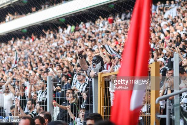 Fans celebrate in the streets of Istanbul Turkey after soccer team Besiktas became Super Lig champions on June 3 2017 Besiktas beat Osmanlispor 40...