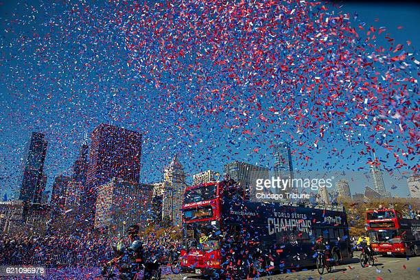 Fans celebrate the World Series champion Chicago Cubs during a parade and a rally in Grant Park in Chicago on Friday Nov 4 2016