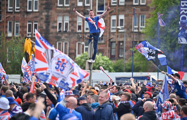 GBR: Fans Celebrate As Rangers Crowned Champions